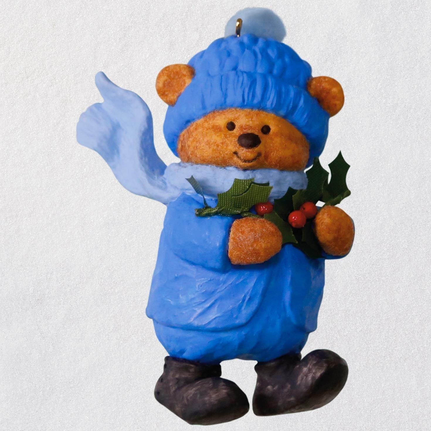 Mary Hamilton's Bears Bough of Holly Ornament keepsake-ornaments Animals & Nature