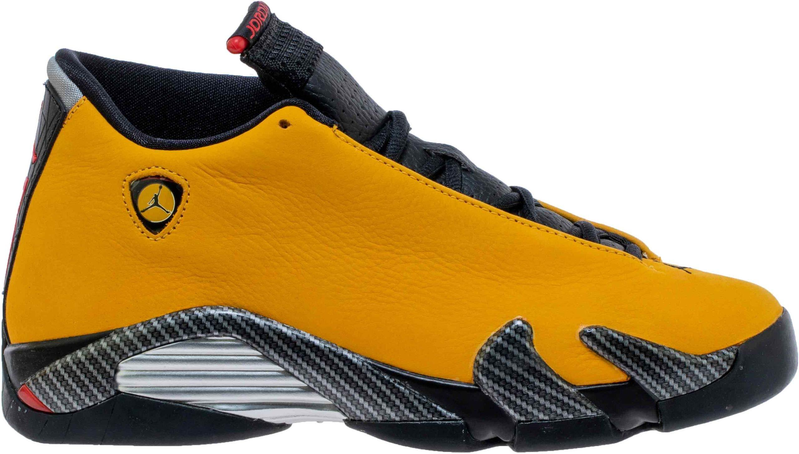 Nike Air Jordan 14 Retro SE Ferrari University Gold/Black (GS) (4.5 M US Big Kid)