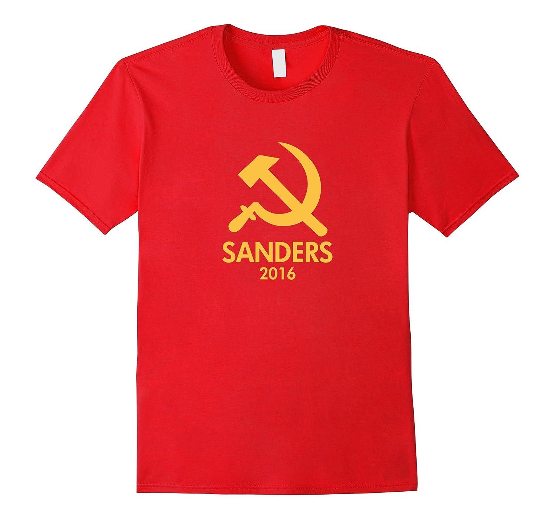 Hammer and Sickle Bernie Sanders Communism t shirt-RT