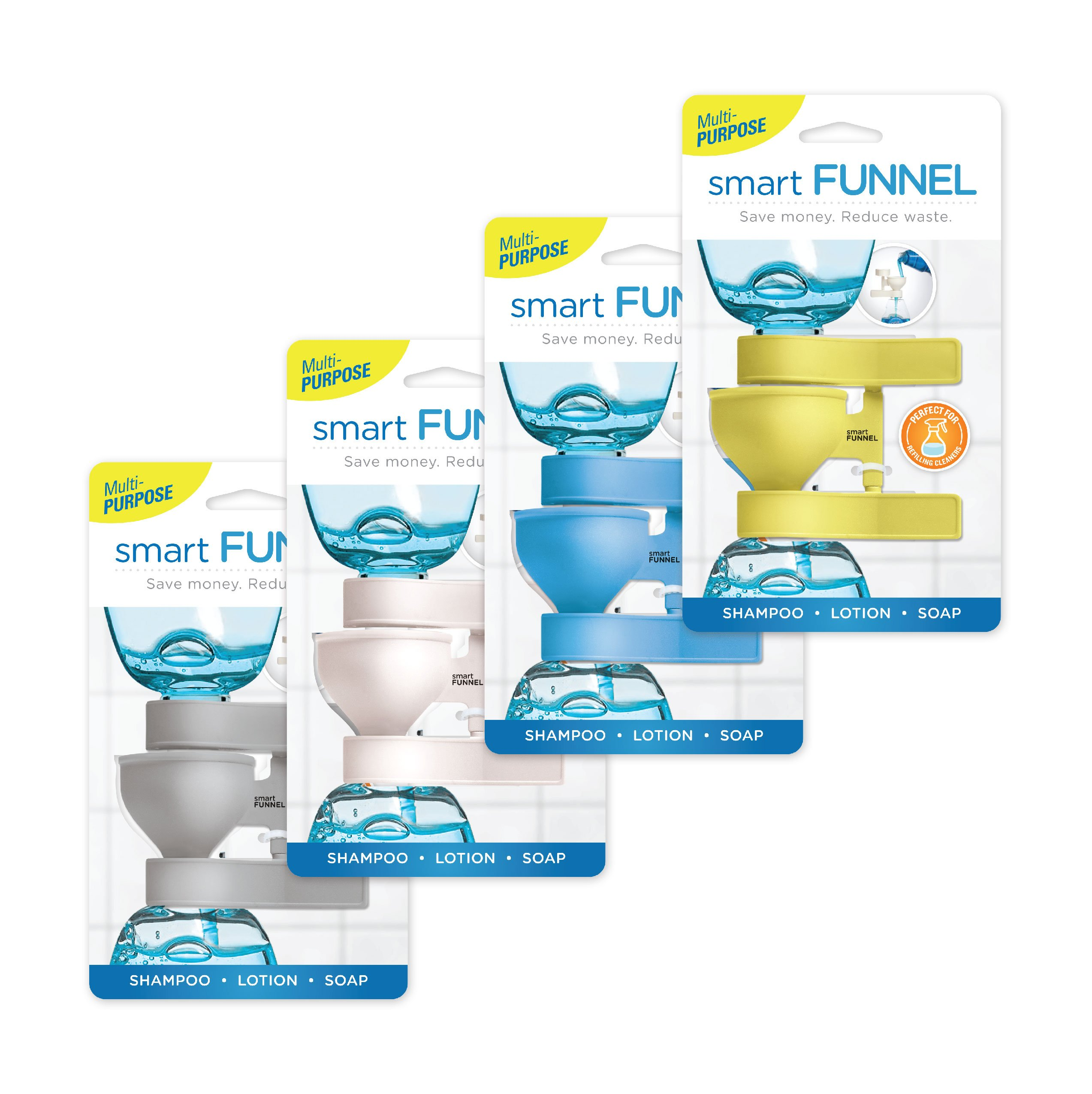 Smart Funnel (4pk - One of Each Color)