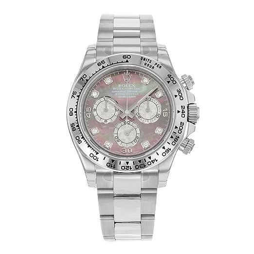 Rolex Daytona 116509 - dkltmd 18 K oro blanco automático reloj para hombre: Amazon.es: Relojes