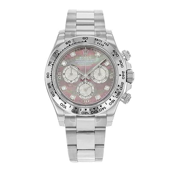 Rolex Daytona 116509 – dkltmd 18 K oro blanco automático reloj para hombre