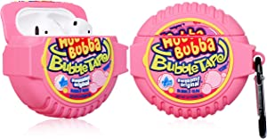 Joyleop Bubble Gum Case for Airpods 1/2, Cute Cartoon Fun Funny 3D Food Design Kids Girls Teens Boys Cover, Kawaii Cool Stylish Fashion Soft Silicone Character Trendy Air pods Cases for Airpod 1&2