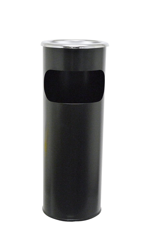 SYR X0086209 Steel Combi Ash Stand/Bin, 250 mm Diameter, 640 mm Height, Black SYR Benelux V.O.F.