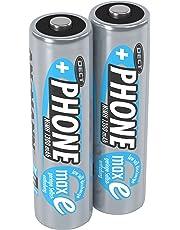 ANSMANN Akku AA Mignon 1300 mAh 1,2V NiMH für Schnurlostelefon 2 Stück - Wiederaufladbare Batterien mit geringer Selbstentladung maxE - Akkus ideal für DECT Telefon schnurlos - Rechargeable Battery