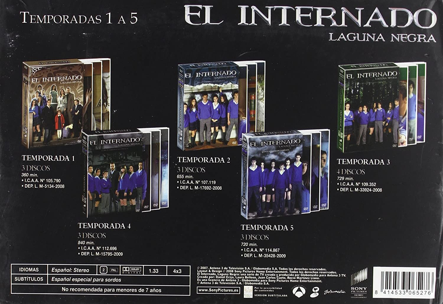 Pack El internado [DVD]: Amazon.es: Amparo Baró, Luis Merlo, Varios: Cine y Series TV
