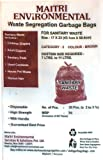 MAITRI Sanitary Waste Garbage Bags, Medium, 17x23 Inches (Brown, SBR 60) - 60 Pieces