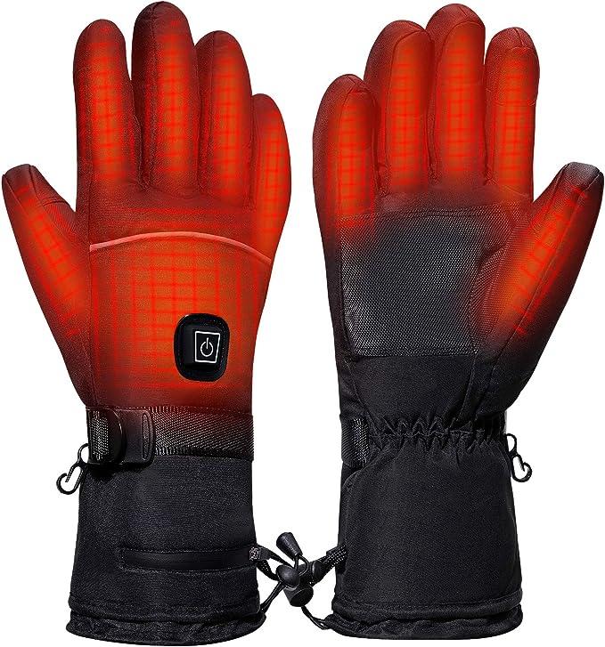 Unisex Motorrad Beheizte Handschuhe Elektrische Warme Heizhandschuhe Touchscreen