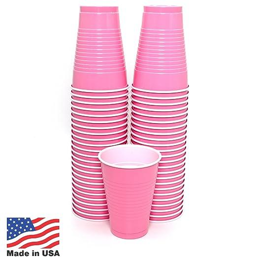Amazon.com: Vasos desechables de plástico Amcrate de 12 ...