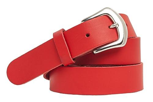 Shenky - Cinturón de cuero - Varios colores - 3 cm de ancho