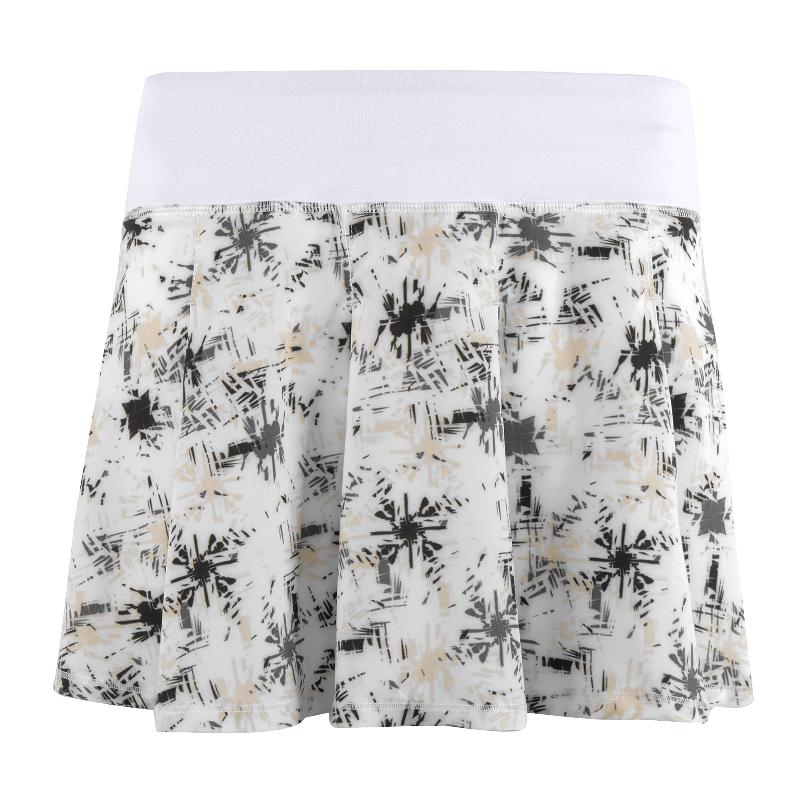 Women's Workout Athletic Tennis Skort Active Running Skirt with Built in Shorts xs Printed White