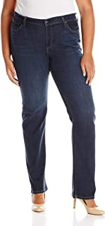 product image for James Jeans Women's Plus-Size Hunter Curvy Straight-Leg Jean in Western Blues