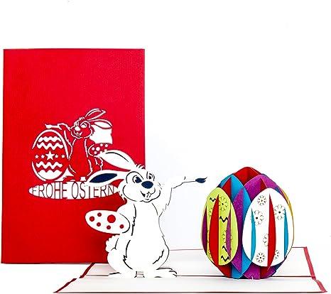 Osterkarte 1 Glückwunschkarte Grußkarte Pop-up Karten 3D-Klappkarten