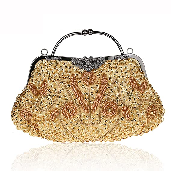 92a16f6b83 Image Unavailable. Image not available for. Color: Toyofmine Women's Clutch  Handbags Evening Bag Beaded Sequin ...