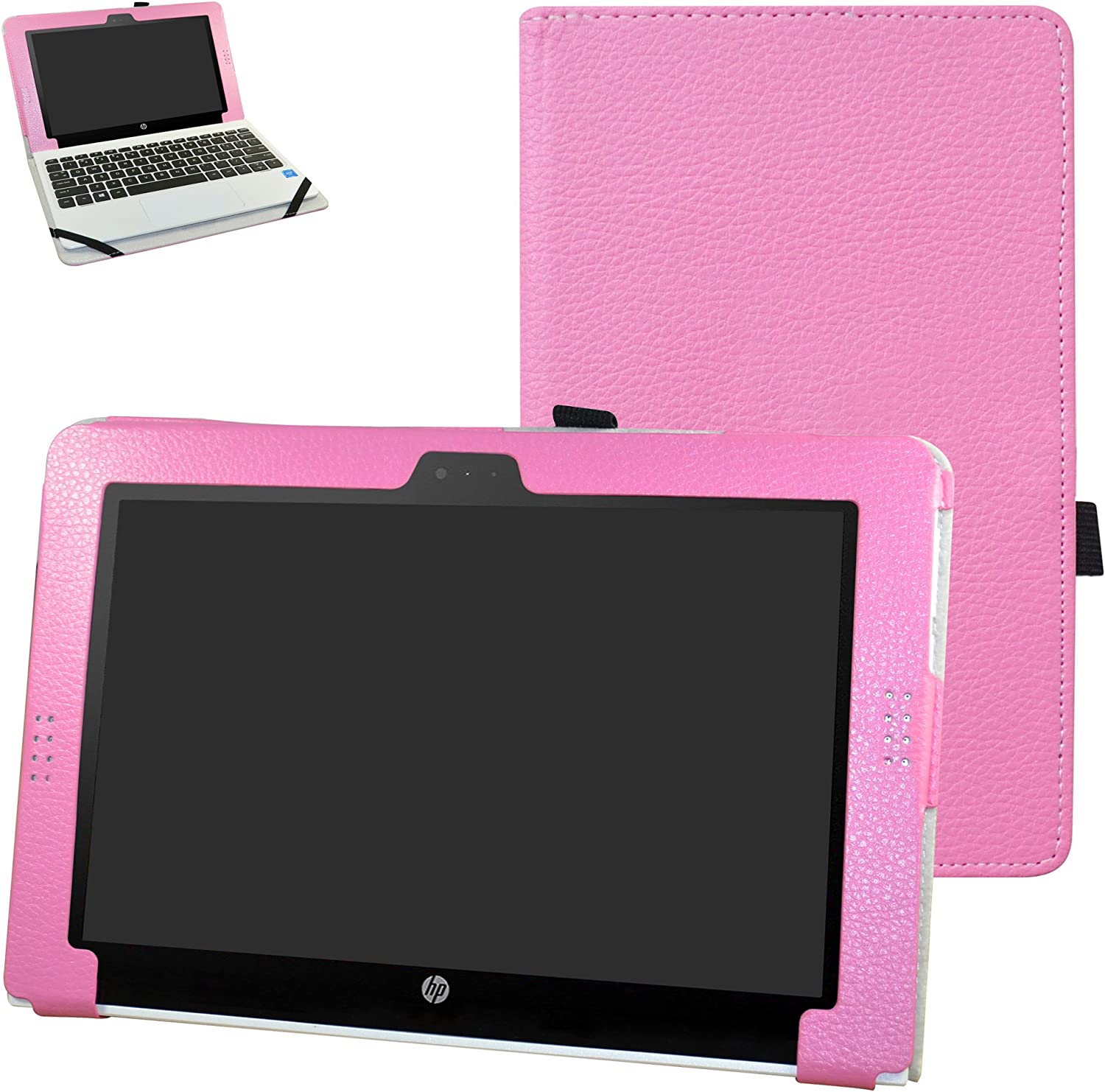 "HP Pavilion x2 10 / HP x2 210 G1 Case,Mama Mouth PU Leather Folio Stand Cover for 10.1"" HP Pavilion X2 10-n113dx n114dx n123dx n124dx n013dx / HP x2 210 G1 Detachable 2-in-1 Laptop/Tablet,Pink"