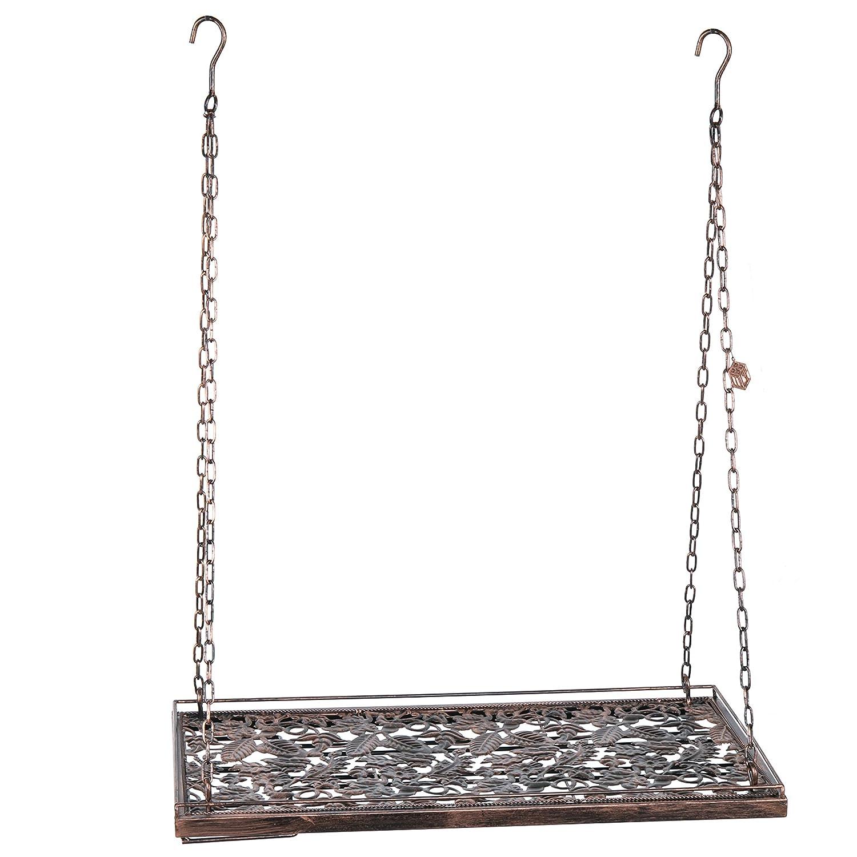 Vineyard Country Rustic Bronze Metal Ceiling Mounted Hanging Stemware Wine Glass Hanger Organizer Rack