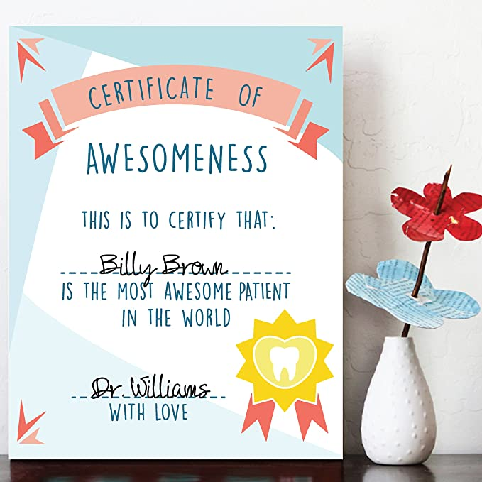 Amazon.com: Certificate of Awesomeness, Best Patient Certificate ...