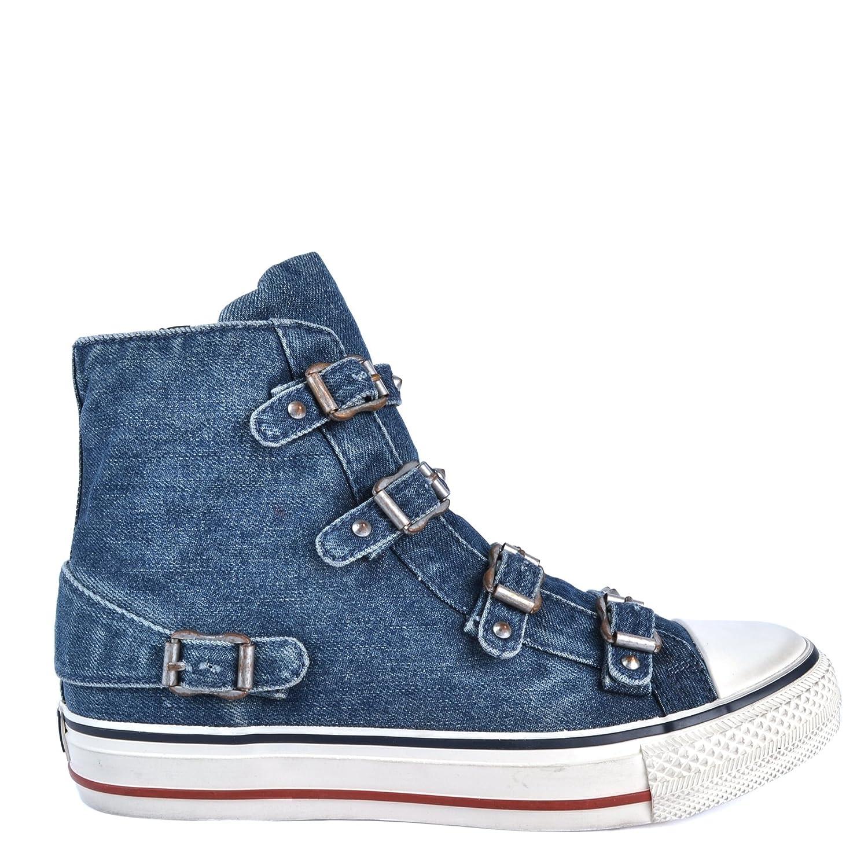 Ash Zapatos Vertigo Denim Zapatillas Mujer 38 EU|Azul