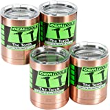 OEMTOOLS 26015 The Torch Copper Lowballs Boxed (Set of 4)