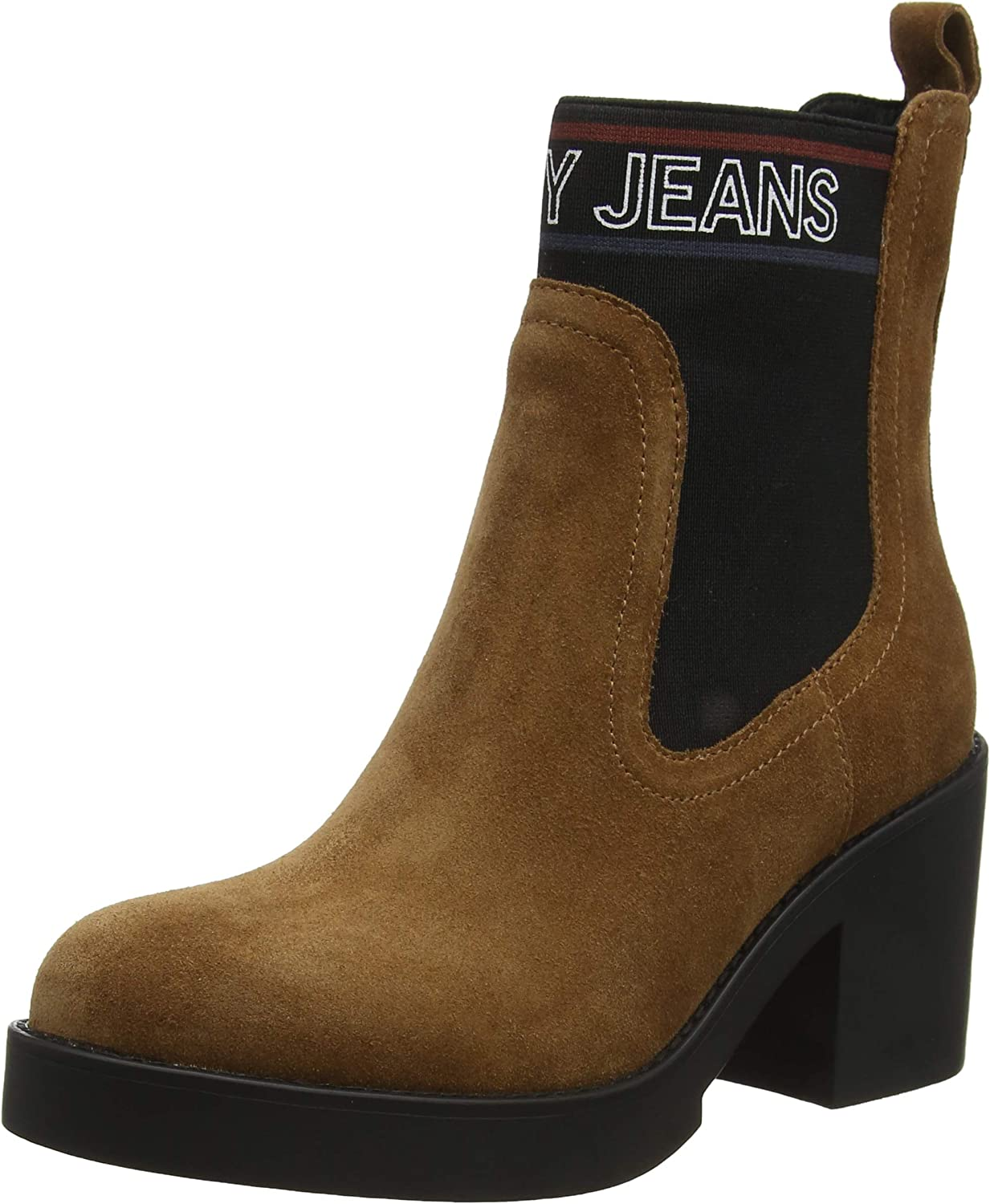 Tommy Hilfiger Corporate Elastic Suede Boot, Botines para Mujer