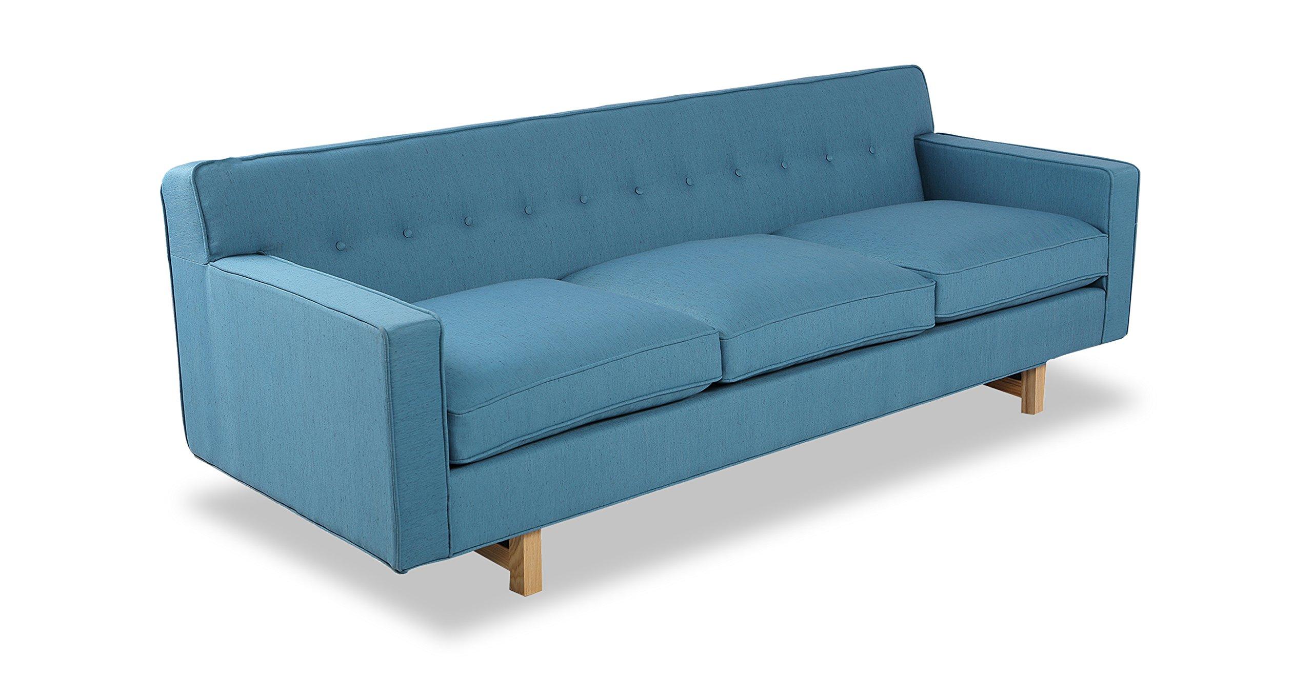 Kardiel Kennedy Mid-Century Modern Classic Sofa, Urban Surf Vintage Twill