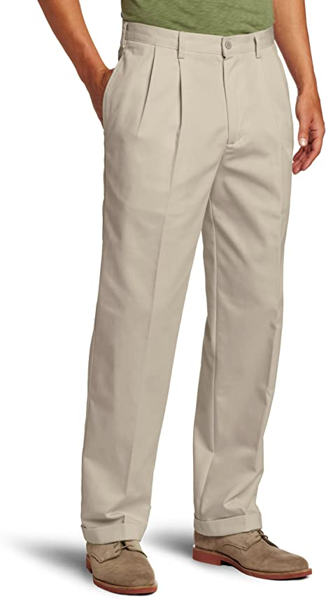 IZOD American Chino Classic-Fit Wrinkle-Free Pleated Pants Various Sizes//Color