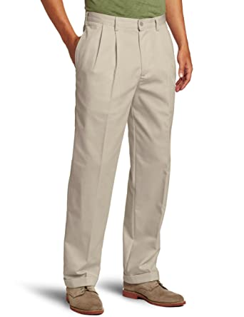 IZOD Men s American Chino Pleated Pant at Amazon Men s Clothing ... a05b8778d9a9