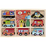 Ryans Room Small World Toys City Service Wooden Vehicle Orda USA 5459621 Qty 1 pc Styles May Vary
