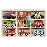 KIDS PREFERRED Ryan's World 7 Piece Wooden Vehicle Set and Accessories