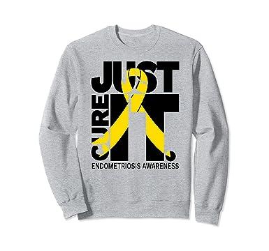 Amazon.com: Simplemente curar endometriosis camisas texto ...
