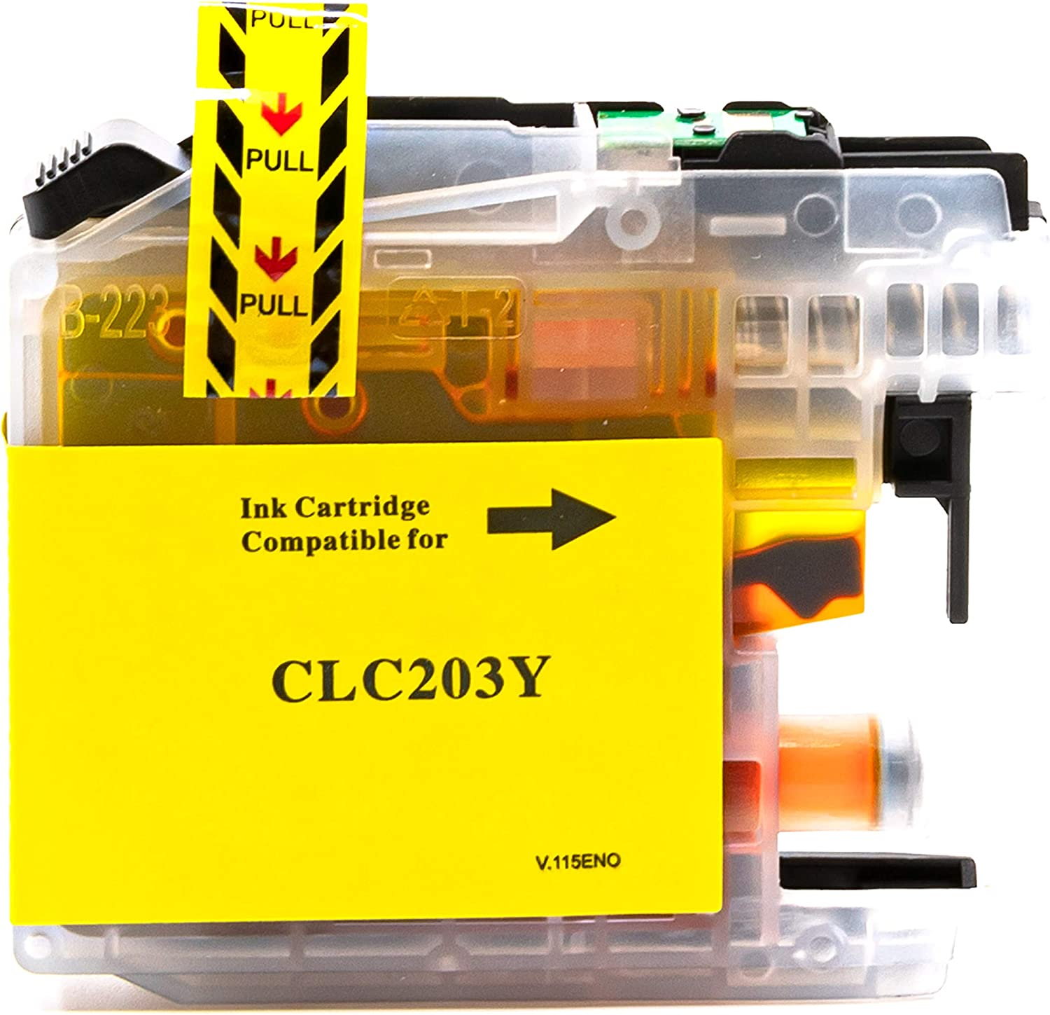 Yellow,1 Pack LC203Y SuppliesOutlet Compatible Ink Cartridge Replacement for Brother LC203
