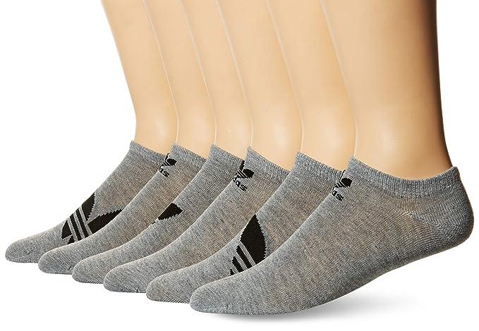 adidas Men/'s Originals Trefoil Cushioned 6-Pack Crew Socks 6-12 Black