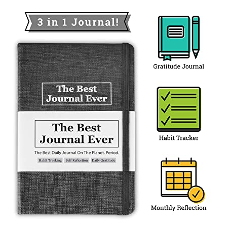 Daily Positivity Journal For Happiness, Wellness, Mindfulness & Self Care -  Inspirational Journals To Write In, Writing Prompt Journal & Guided