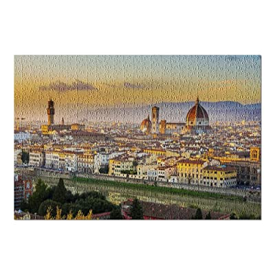 Florence, Italy - Sunset View of Duomo & City 9002747 (Premium 500 Piece Jigsaw Puzzle for Adults, 13x19, Made in USA!): Toys & Games
