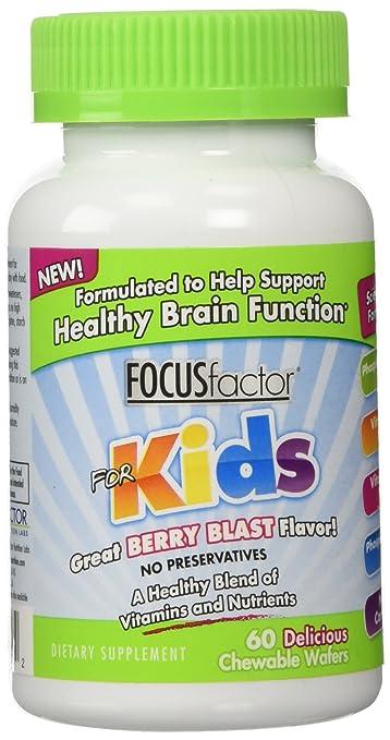 Vital Basics / Focus Factor for Kids, Kids 60 Wafers