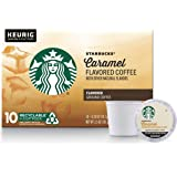 Starbucks Caramel Flavored Medium Roast Single Cup Coffee for Keurig Brewers, 1 Box of 10 (10 Total K-Cup pods)