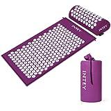 INTEY Acupressure Mat & Pillow Set Back &Neck Pain Relief Massage Mat with Carry Bag