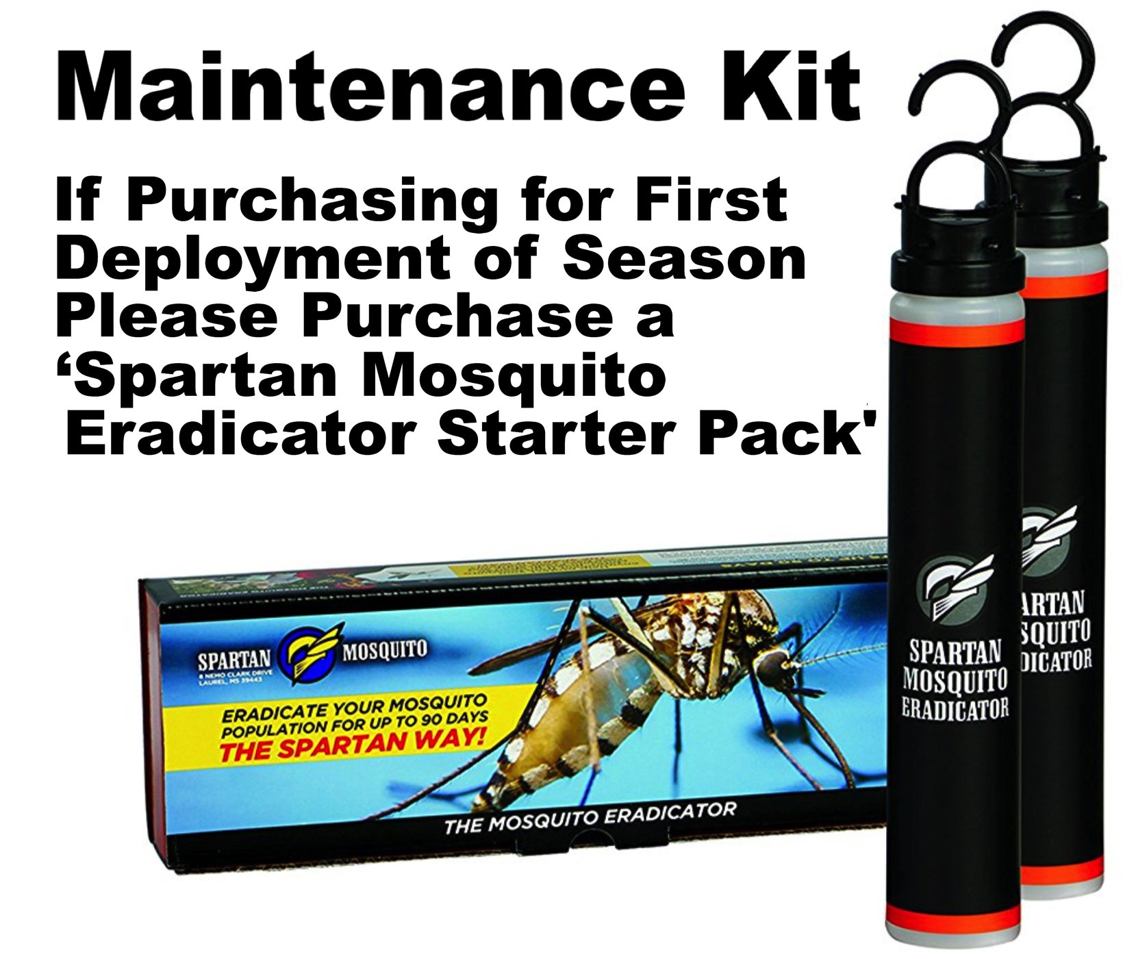 SPARTAN MOSQUITO ERADICATOR Control 1-ACRE MAINTENANCE; Best Whole Yard Outdoor Killer Barrier Solution; More Effective Than ShortTerm Insect Repellent Trap MosquitoFree Backyard Garden Patio