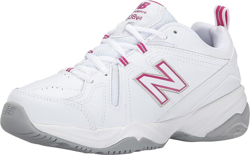 New Balance Womens Wx608v4p Training Shoe White/pink Comfort Shoes Women's Shoes