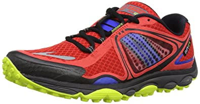 Brooks Puregrit 3 Men Herren Laufschuhe, Rot (High Risk Red/Electric/Lime