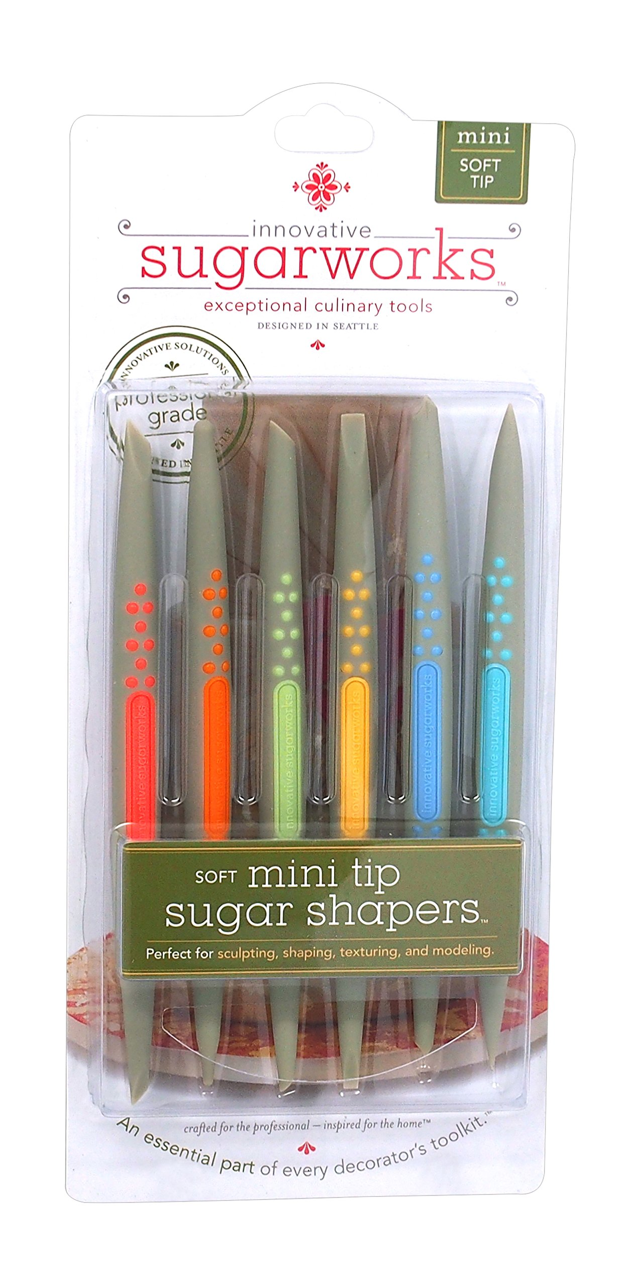 Innovative Sugarworks Sugar Shapers Fondant Cake Decorating Unique Tools, for Sugarcraft, Gum Paste, Modeling Chocolate (Pack of 6), Soft Tip, Mini