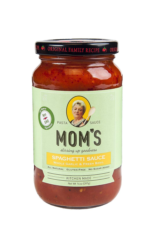 Mom's Pasta Sauce,Garlic & Basil, 14 Ounce (Pack of 6)