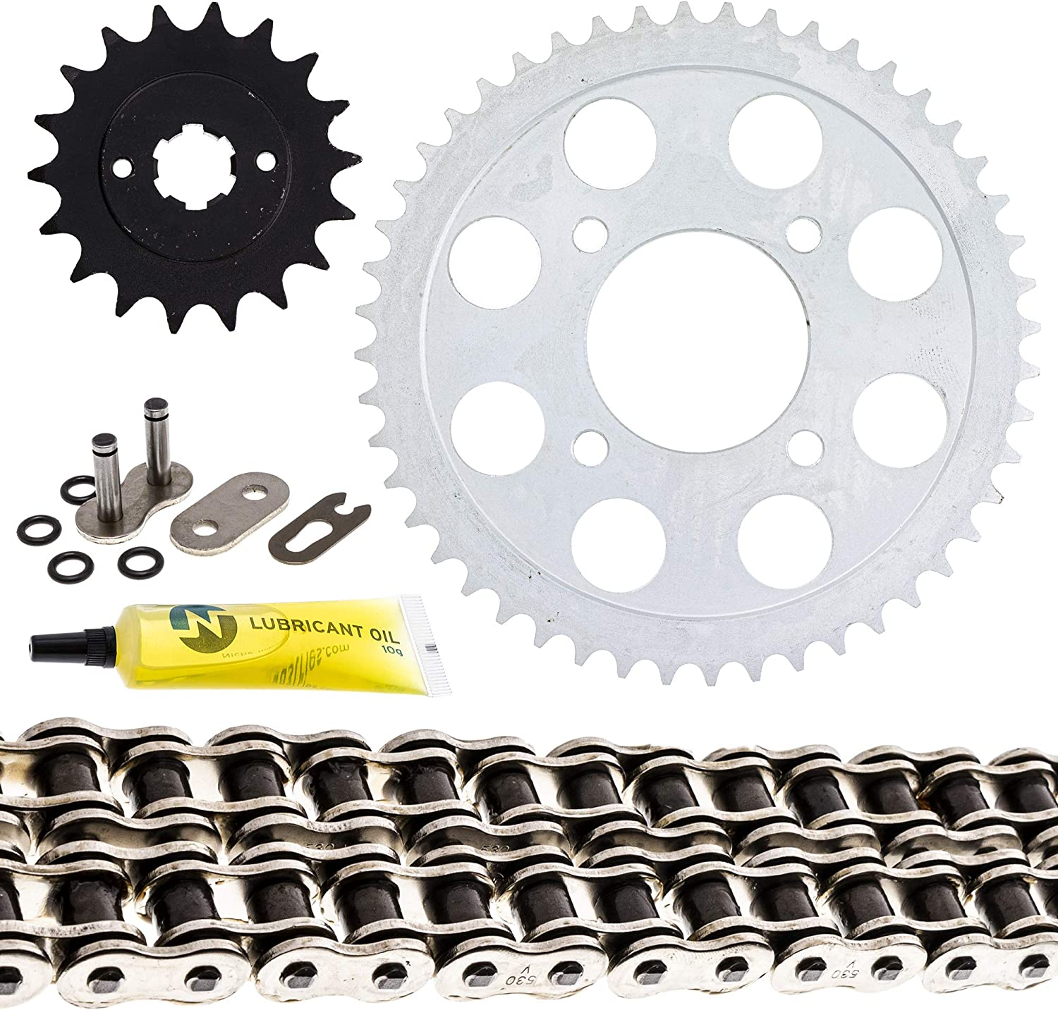 NICHE Drive Sprocket Chain Combo for Honda CB750K Front 18 Rear 48 Tooth 530V O-Ring 104 Links