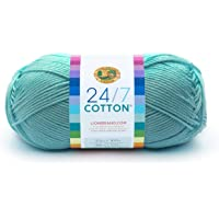 Lion Brand Yam 761-102 24-7 Ovillo de lana de algodón, Agua (Aqua), 1 unidad
