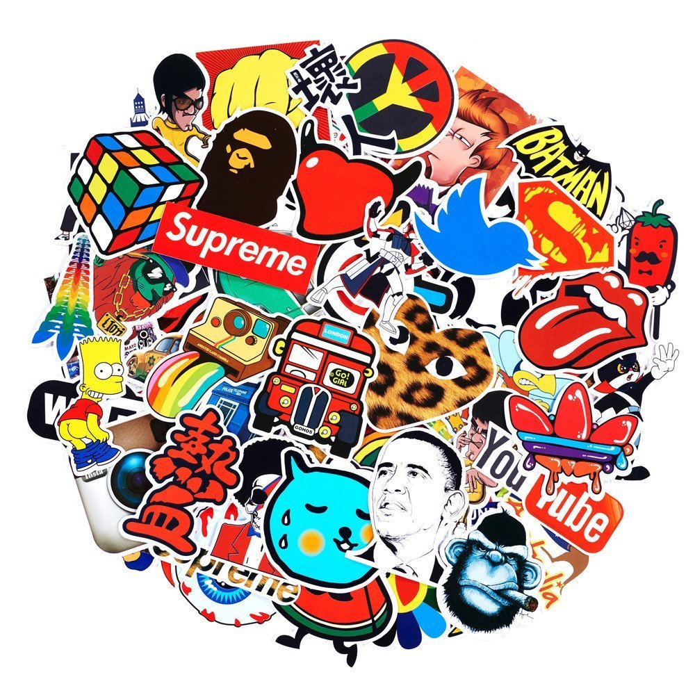 Laptop Cellphone Pad Skateboard Luggage Car Motorcycle Bicycle Random Sticker Set SuprCool Random Stickers 300 pcs Latest Style Stickers