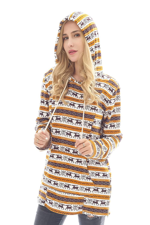 Bearsland Womens Maternity Sweater Clothes Nursing Sweatshirt Breastfeeding Hoodie with Pockets