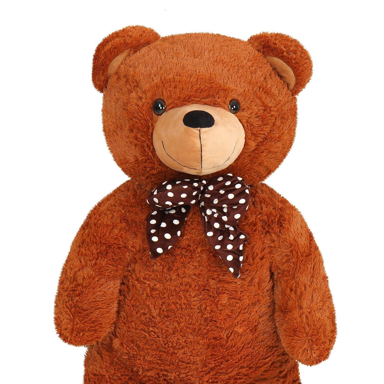 156 cm Juegete de Peluche Teddy Bear en 3 Tama/ños: L 156 cm Blanco, Marr/ón XXL 95 cm Infantastic Oso de Peluche //Blanco XXL XL Osito de Peluche 136 cm y 2 Colores Grande y Suave
