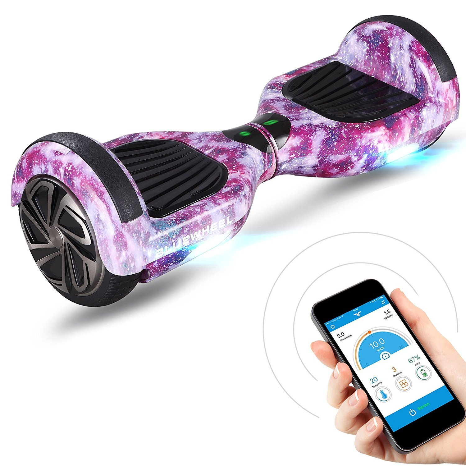 Hoverboard rose galaxy