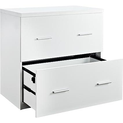 Amazoncom Contemporary Wood White Lateral File Crisp Clean Design