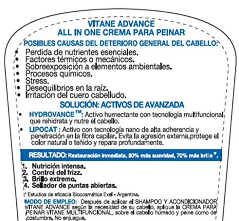 Amazon.com : Vitane-Crema para peinar cabellos rizos Nutricion y disciplina para el cabello. Anti breakage/ smooth hair, combing cream for curly and wavy ...